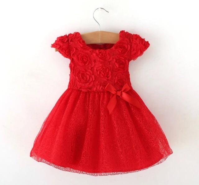 aa017eeef Vestido Rojo Para Bebé- Pétalo Vestidos De Niñitas -   18.000 en ...