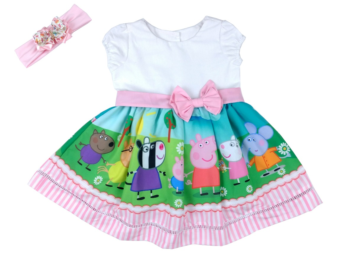 Festa Roupa Peppafaixa Infantil Tematico Vestido 4jL5qAcR3