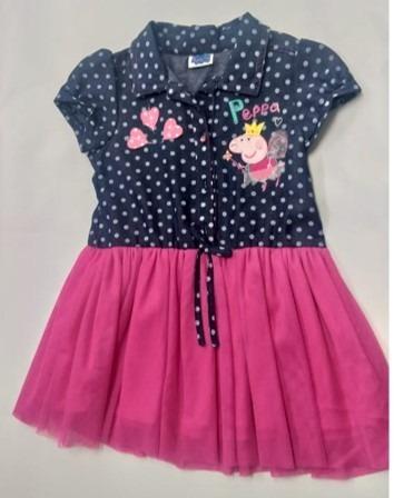 8e00181f9 Vestido Peppa Pig Talla 3 Años Original Para Niña Falda Tul ...