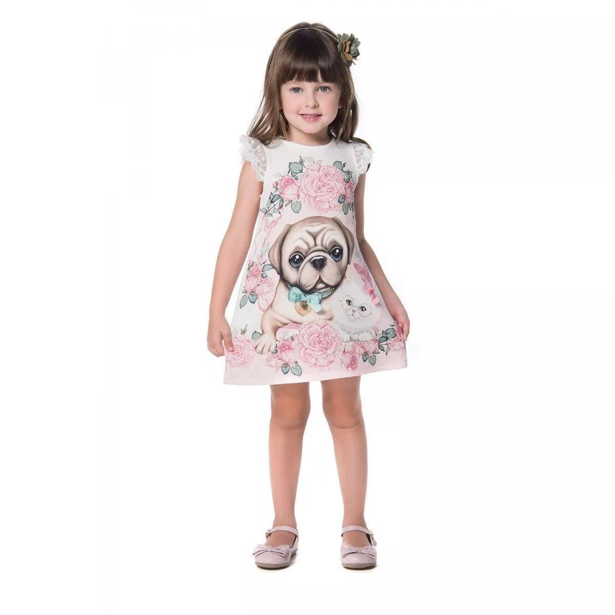 f55171426 Vestido Petit Cherie Crepe De Malha Gato E Cachorro - R$ 143,00 em ...