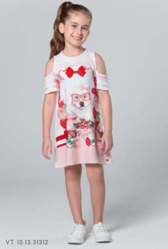 c465cb9fe vestido petit cherie crepe de malha rosa e branco estampa. Carregando zoom.