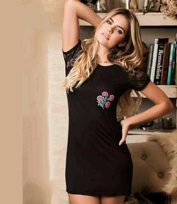 db7158a129 vestido pijama mujer sexy doll encaje negro detalle flor. Cargando zoom.