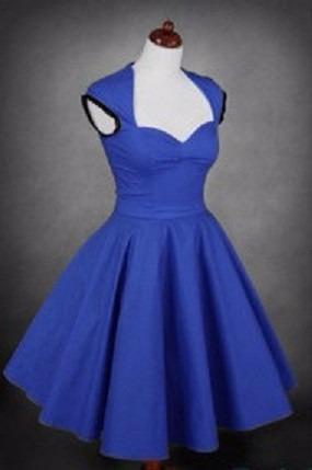 vestido pin up azul, talla xl