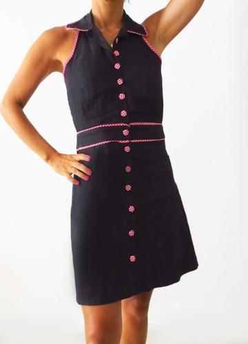 vestido pin up camisero modelo ingrid - diseño independiente