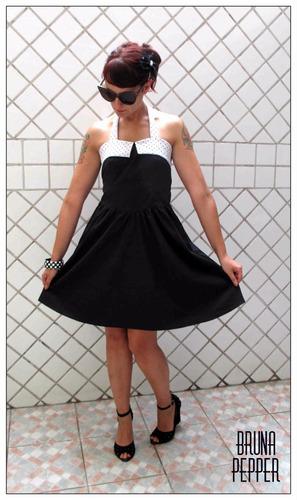 vestido pin up retrô rockabilly anos 50 60 bolinha