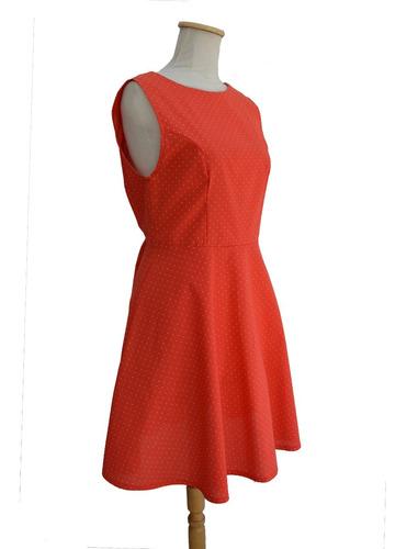vestido pin up retro rojo lunares blancos escote v espalda