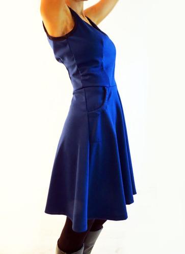 vestido pin up tela punto roma - diseño independiente