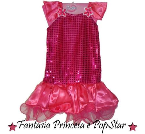 vestido pink barbie princesa pospstar - 3 anos