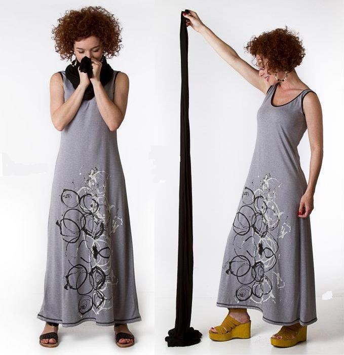 Vestido Pintado A Mano Ropa De Diseño Entrega En Córdoba