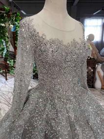 Vestido Plata Silver Wedding Novia Bodas Plata Religiosa Ana