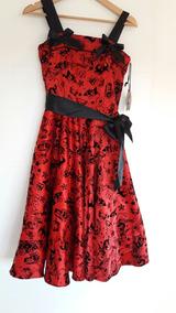5ffc7584b Vestido Rockabilly Lunares - Vestidos de Mujer Rojo en Mercado Libre ...