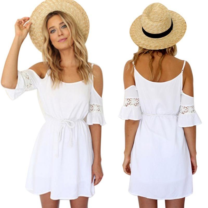 2a6306dfd vestido playero blanco salida baño ropa playa pareos piscina. Cargando zoom.