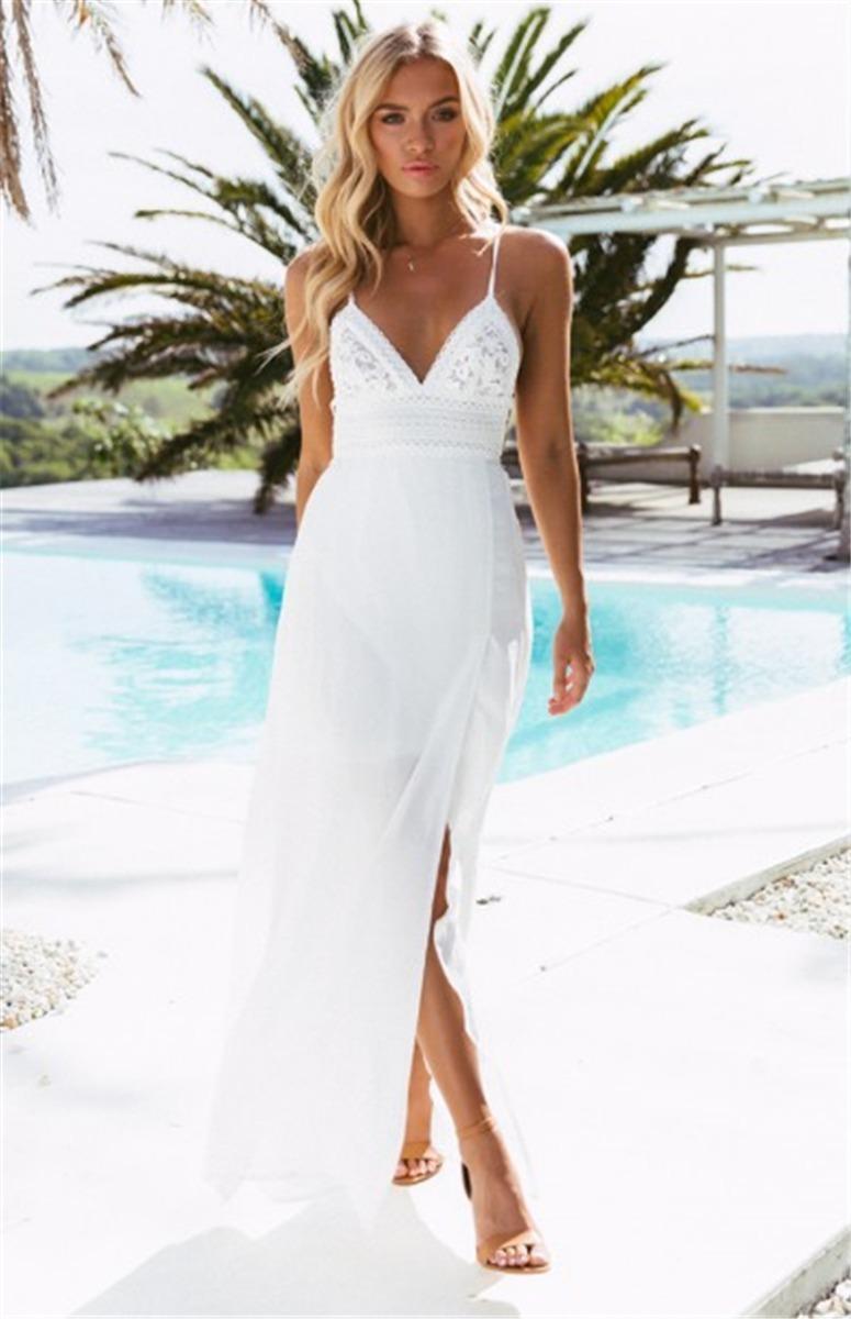 630105ce4 vestido playero blanco salidas baño ropa pareos piscina. Cargando zoom.