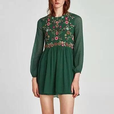 estilo clásico buena calidad ahorre hasta 60% Vestido Plumeti Bordado Zara Envío Gratis
