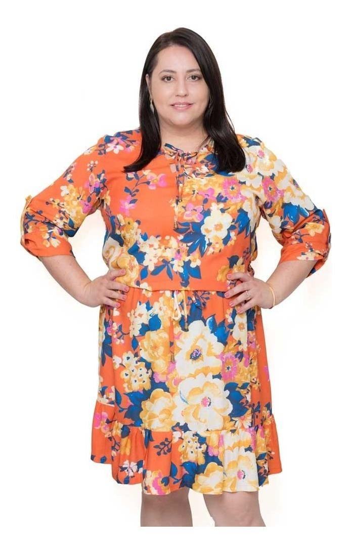 56a0816a8e6d Vestido Plus Size Bella - R$ 69,90 em Mercado Livre