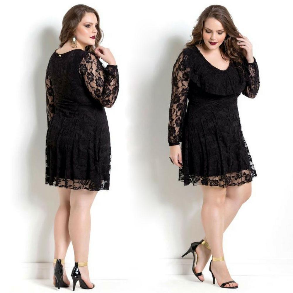 6eb774eb8 vestido plus size curto de renda de festa moda gospel barato. Carregando  zoom.