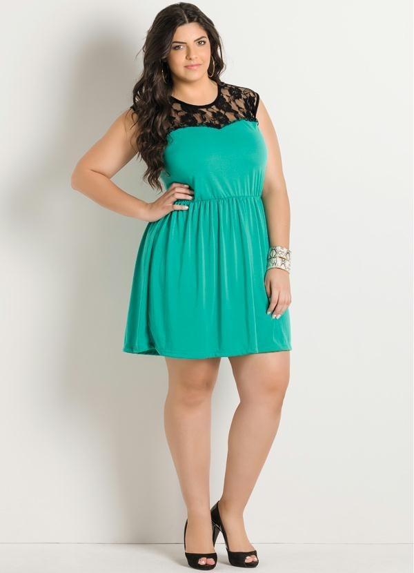 b43053229c vestido plus size em renda com forro moda plus size - fg. Carregando zoom.
