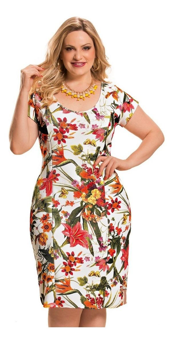 1881e9910 Vestido Plus Size Evangélico Senhora Gordinha 46/48/50/52/54 - R ...