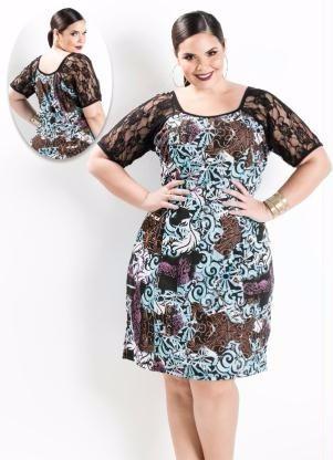 vestido plus size festa / balada renda - roupa g gg xxg xlg
