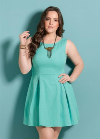 fe493e417 Vestido Quintess Plus.size - Vestidos Femininas no Mercado Livre Brasil