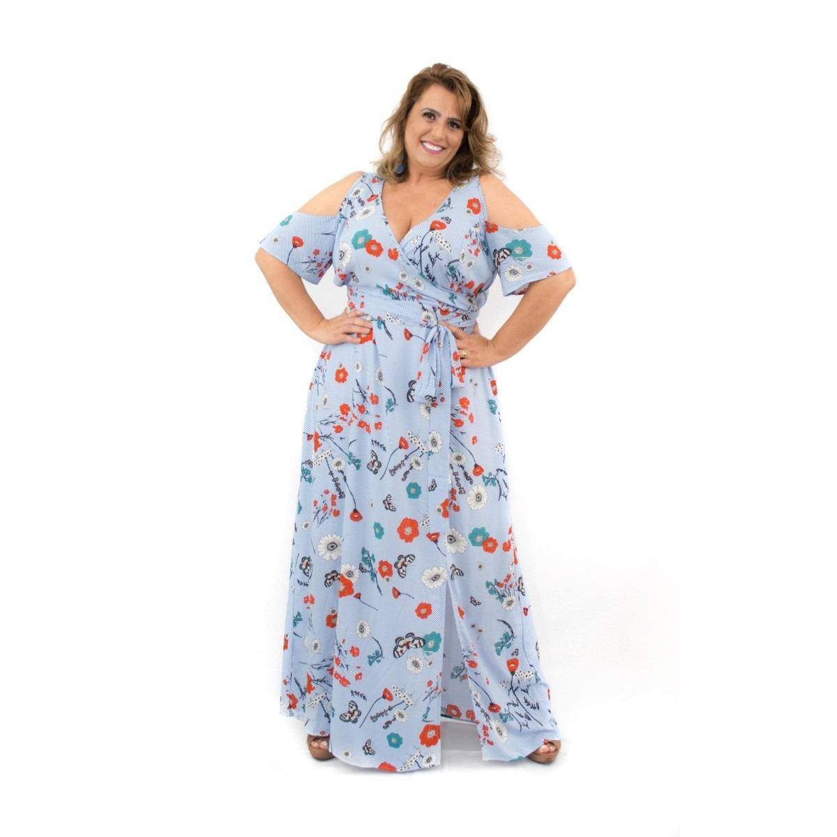Vestidos de viscose longo 2018