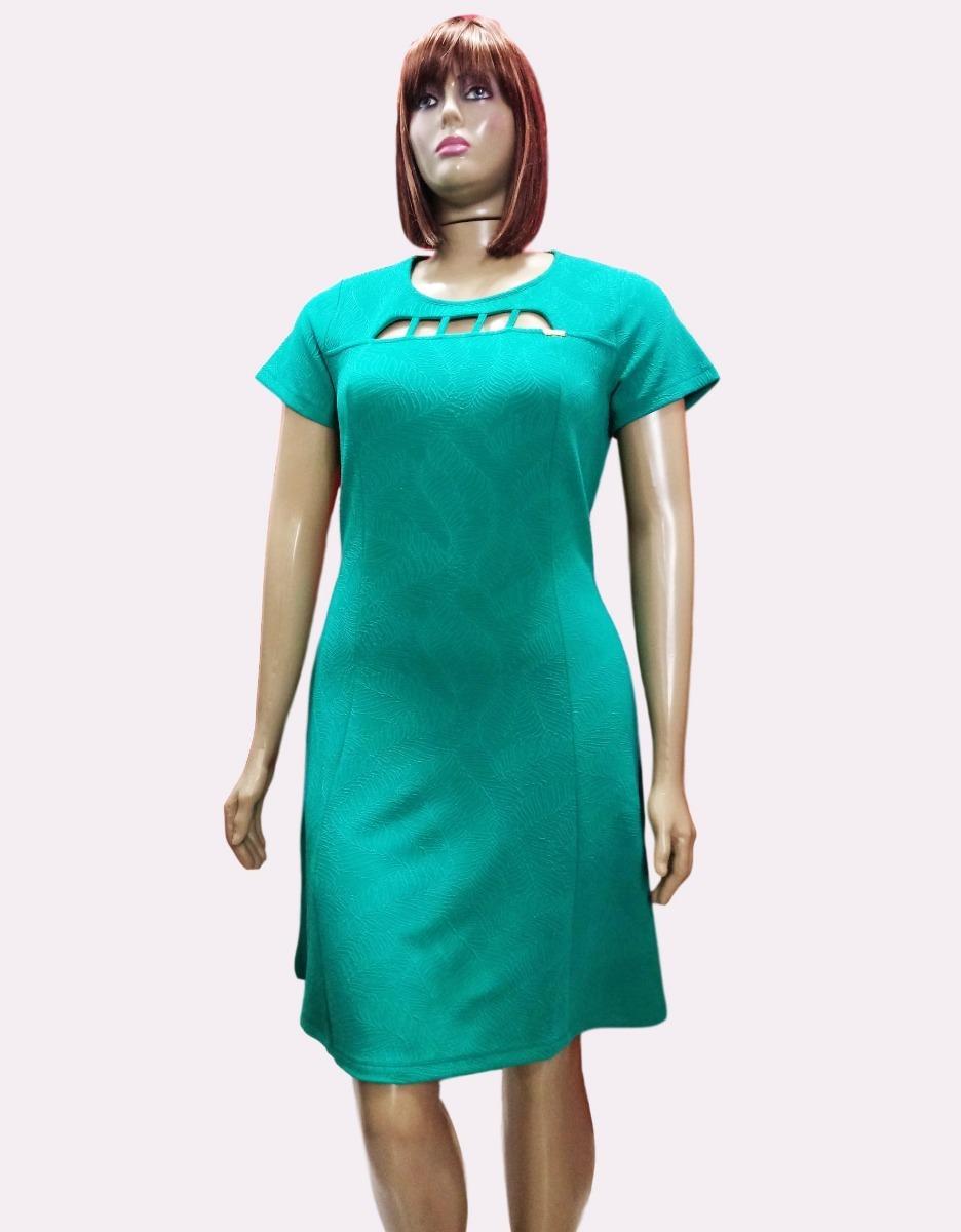 6bebfae6c4 vestido plus size malha jacquard curto festa evasê-605. Carregando zoom.