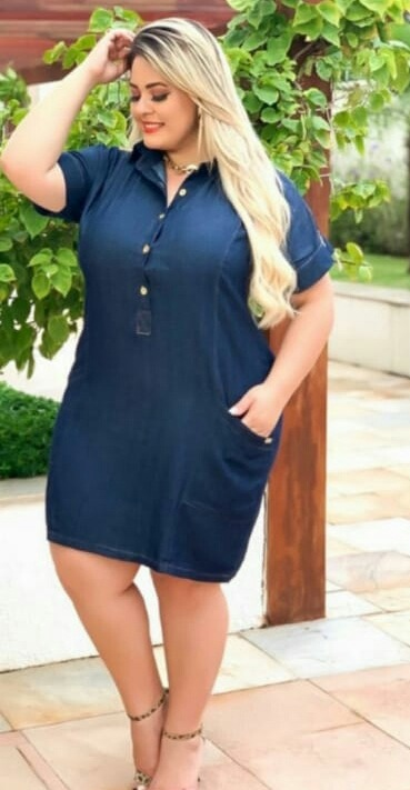 ddde59c8d Vestido Plus Size Medio Moda Evangelica Moda Feminina Barato - R ...