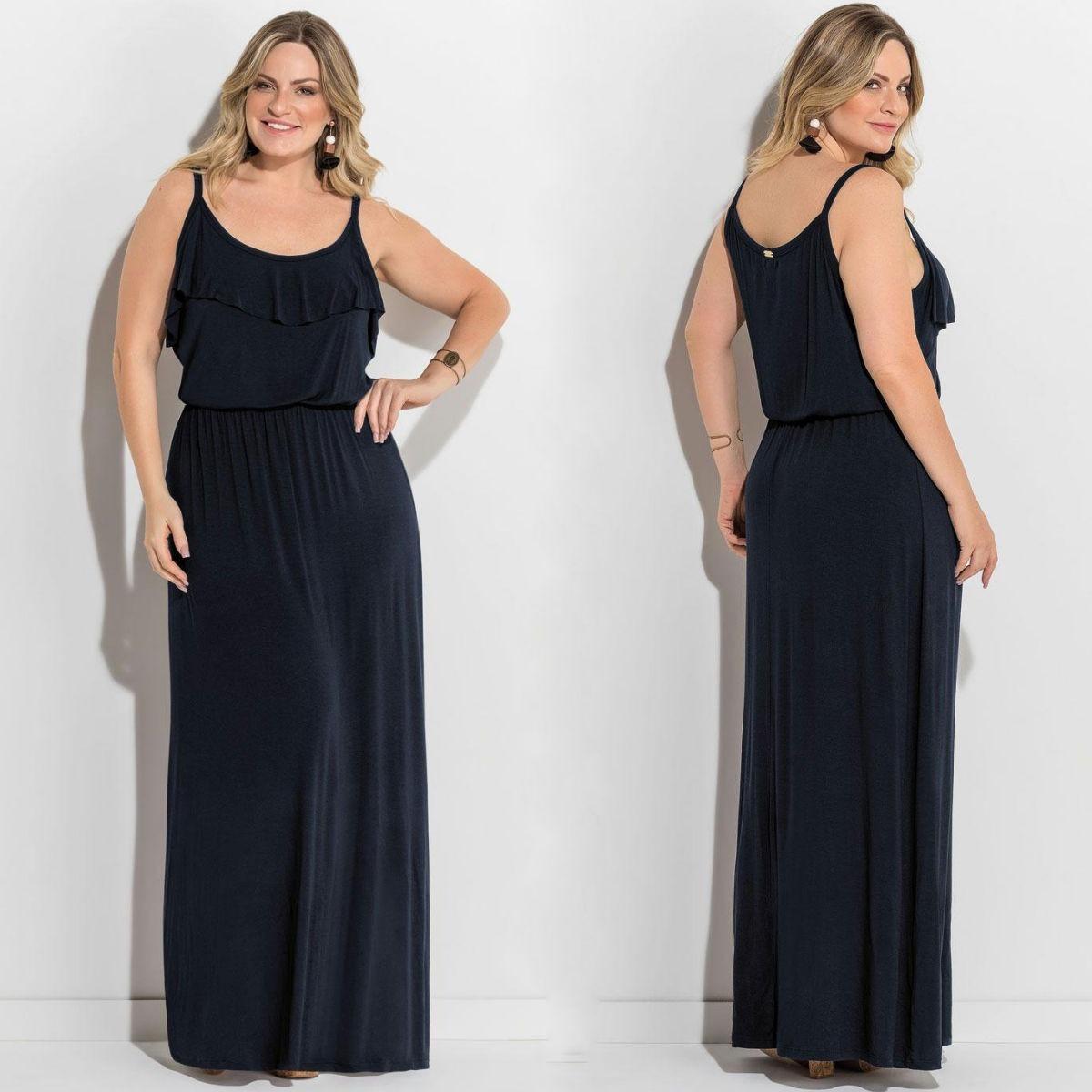 7640656db vestido plus size moda evangélica longo lindo em promoção. Carregando zoom.