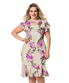 e0c6f59d784e Vestido Midi Para Gordinhas - Vestidos Femeninos com o Melhores Preços no Mercado  Livre Brasil
