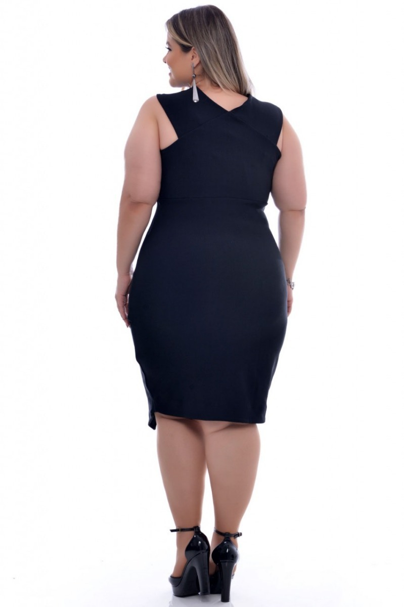 20b4215b97 vestido plus size preto gg elegance all curves 0002089. Carregando zoom.