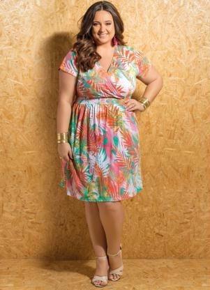 vestido plus size primavera verão - roupa tamanhos grandes