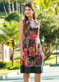2830e4e8f4 Vestido Poliana Moda Evangélica Elegante Floral