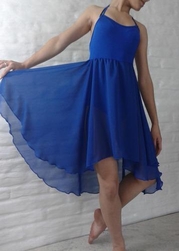 vestido pollera baile clasico danza gasa con malla interior