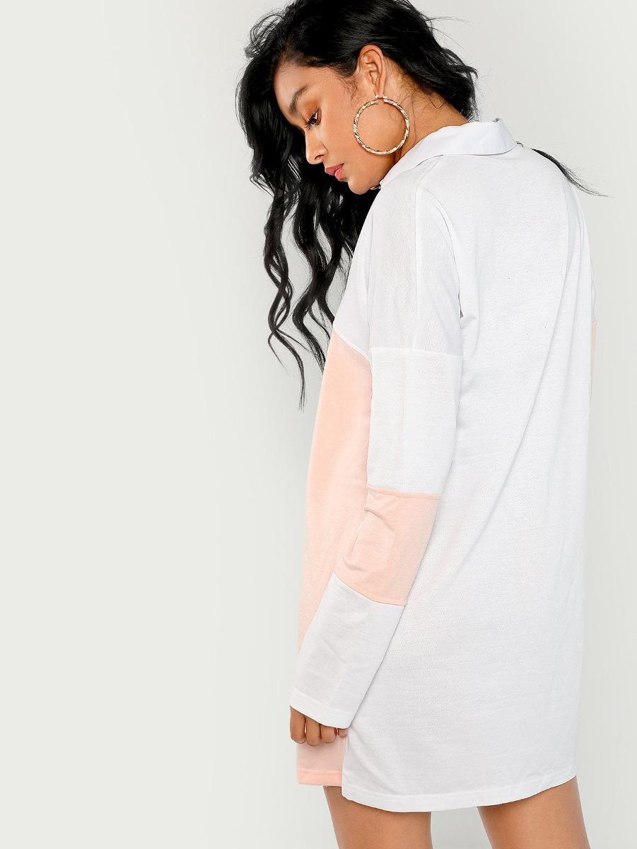Vestido Polo Con Costura - $ 518.48 en Mercado Libre
