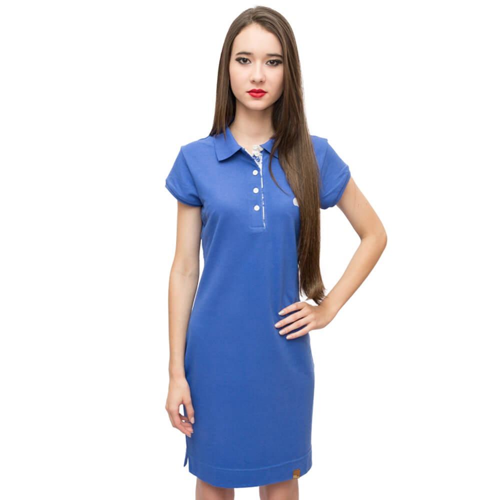 b1ebfc8fc2 vestido polo feminino curto bordado dog charlie cor azul ... Carregando  zoom.
