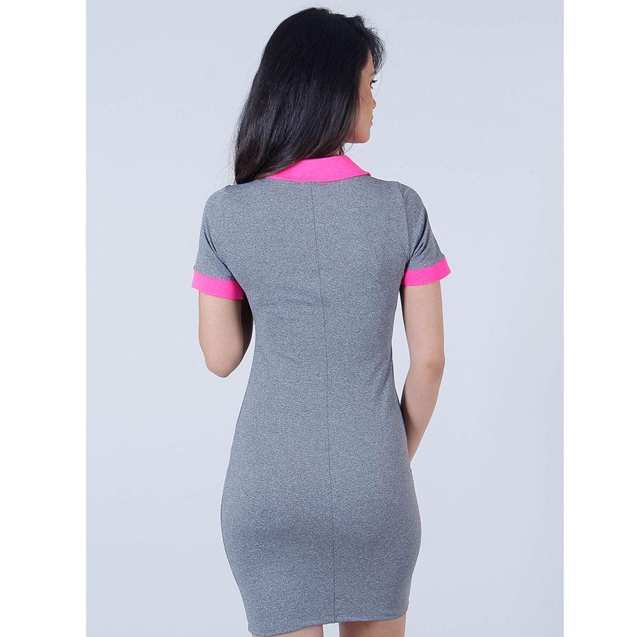 cb59c53e1f vestido polo feminino lara - cinza. Carregando zoom.