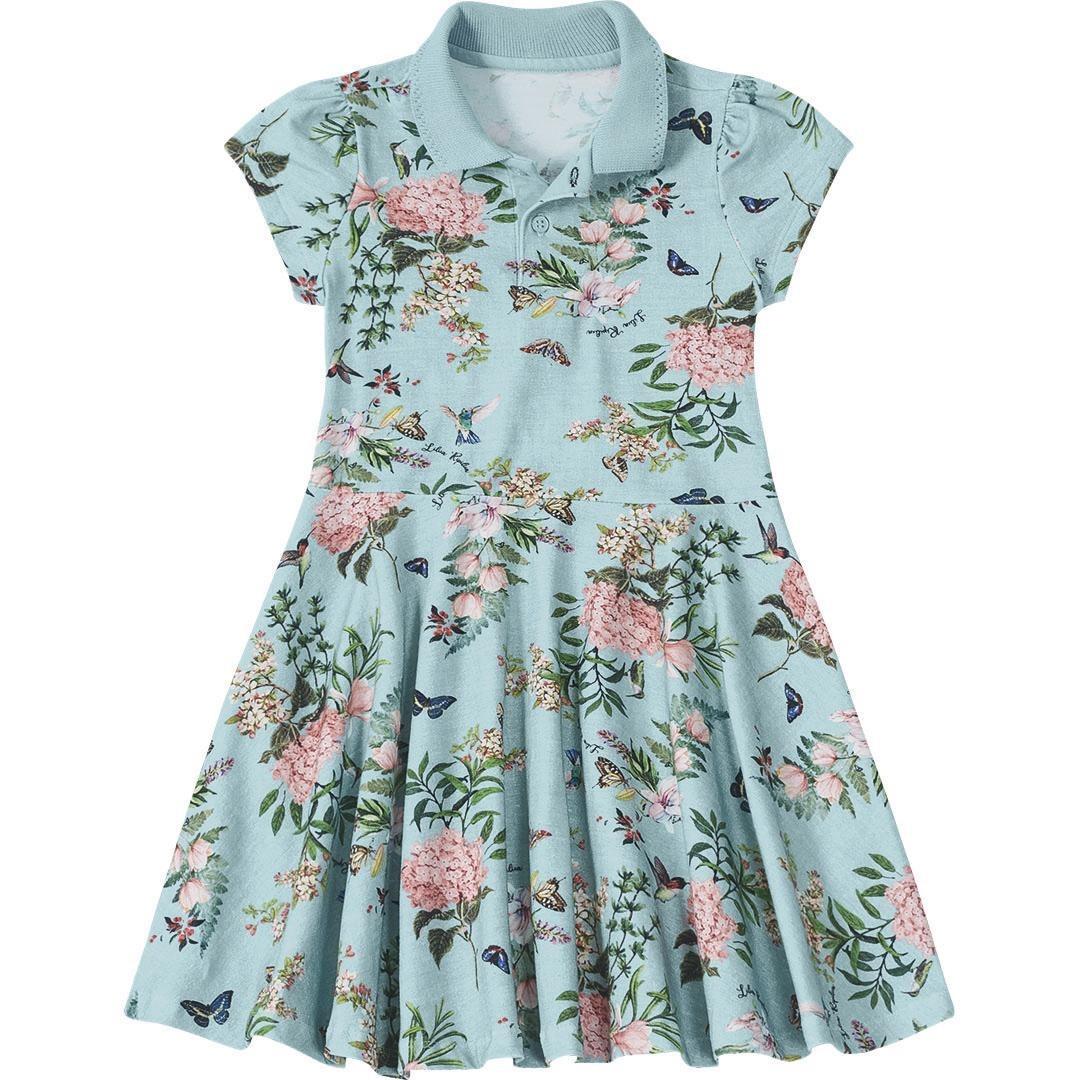 862b83de3 Vestido Pólo Floral Lilica Ripilica Azul - Cor Verde - R$ 129,00 em ...