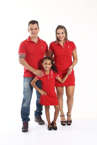 vestido polo infantil vermelha paixão