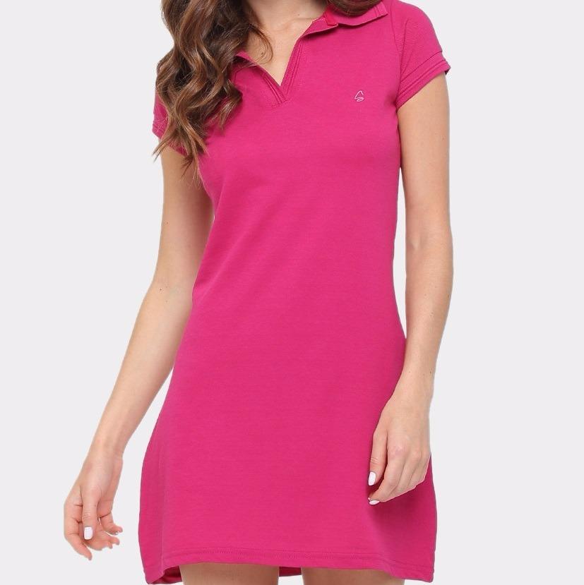 50d0f56c6c Vestido Polo Malha Piquet Rosa Escuro T04 - R  47