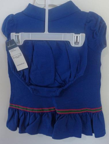 vestido polo ralph lauren manga curta - original