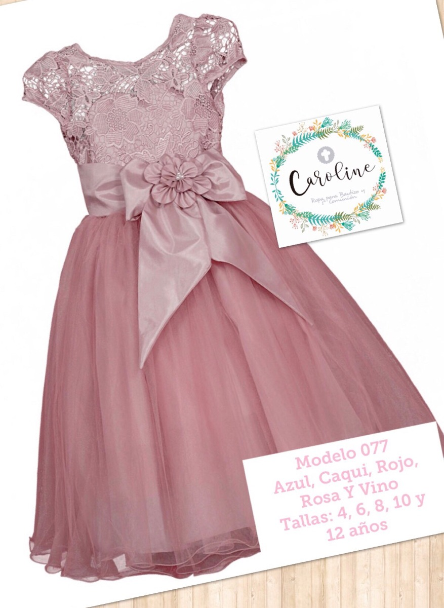 Vestido Presentación Fiesta Niña Rosa 077 Envió Gratis - $ 749.00 en ...