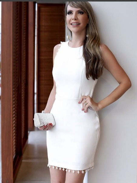 1103ea0b8 Vestido Preto Alfaiataria Luxo Com Perolas - R$ 179,00 em Mercado Livre
