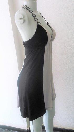 vestido preto com cinza claro