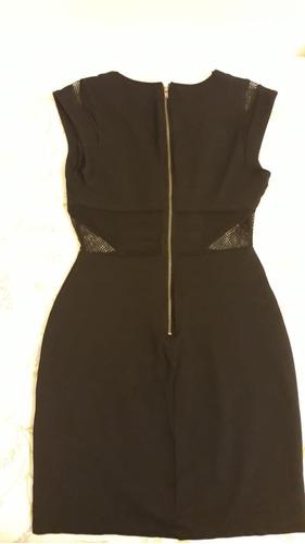 vestido preto justo acinturado - forever 21