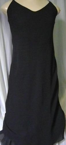 vestido preto longo com bicos m