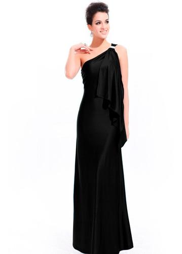 vestido preto longo de viscolycra