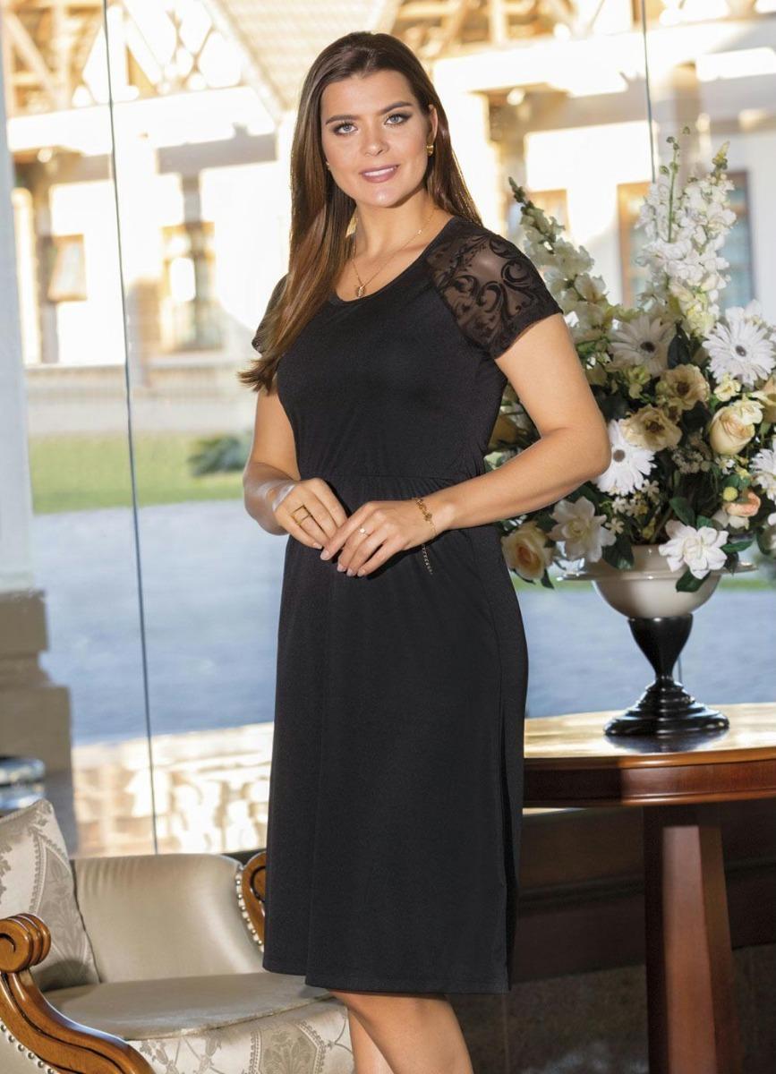 8d238102b3 vestido preto mangas em devorê moda evangélica frete grátis. Carregando zoom .