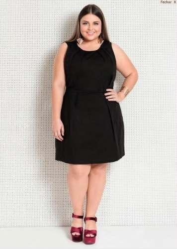3a709abc3 Vestido Preto Plus Size Festa Social Executivo Feminino - R  89
