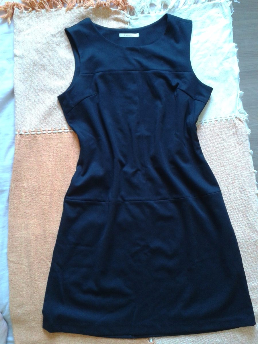 3f748a2d73 vestido preto social manga curta pretinho básico. Carregando zoom.