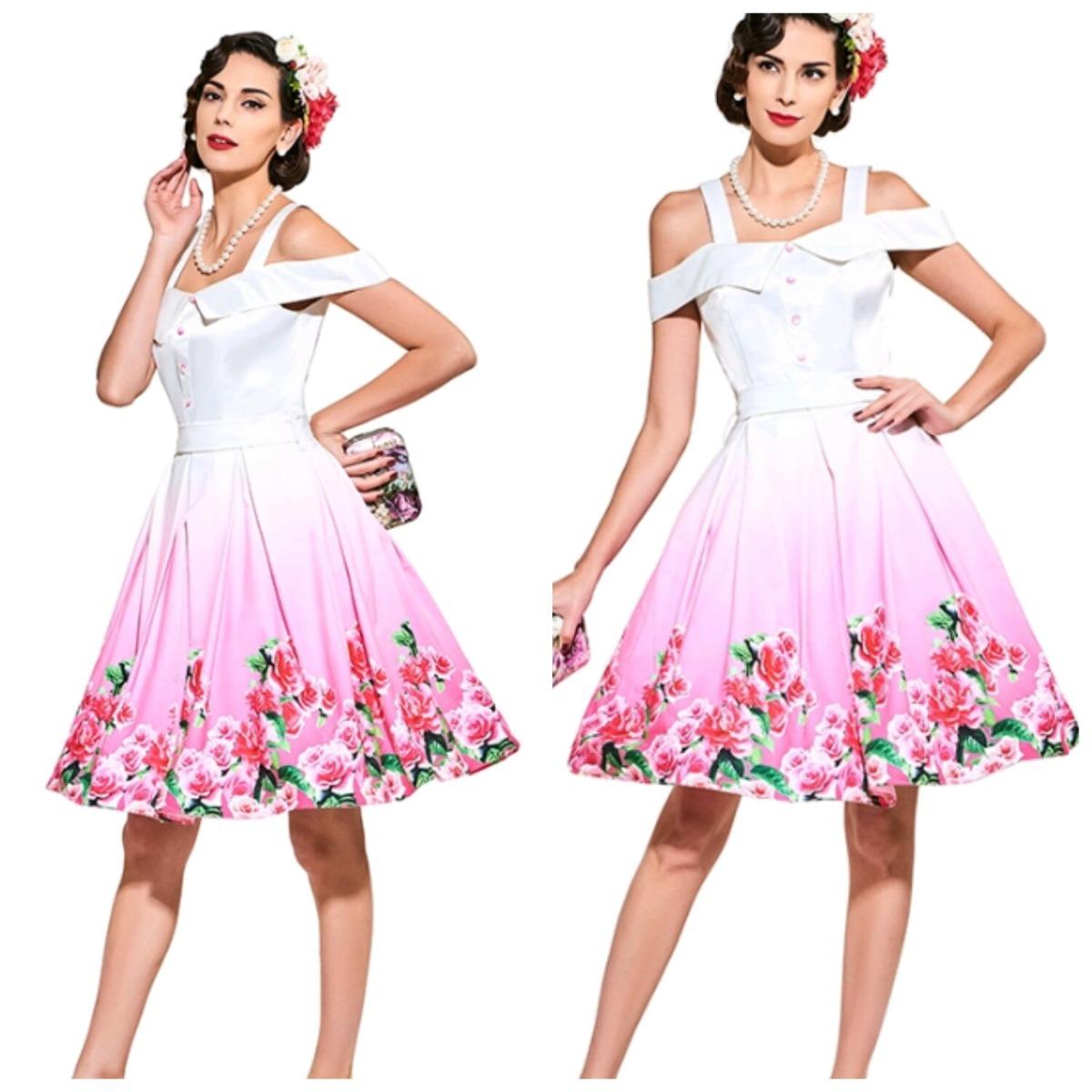 Increíble Vestido De Fiesta Estilo Años 50 Molde - Ideas de Vestido ...
